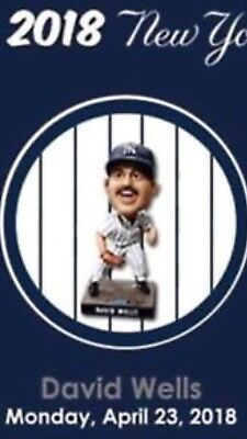 2018 New York Yankees David Wells Bobblehead SGA April 23, 2018