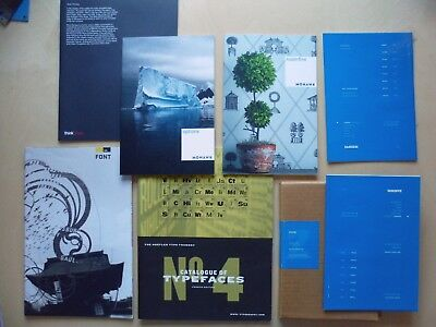GRAPHIC DESIGN Mixed LOT Posters Book Mags Paper Type Specimens Hoefler Foundry