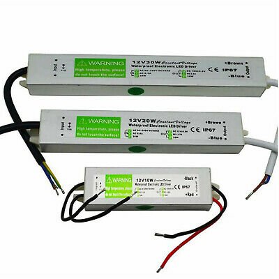 IP67 DC12V Waterproof LED Transformer  Power Supply to LED Strip Light 10W-60W