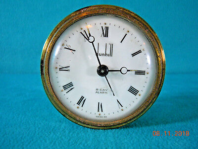 Vintage 8-Day, Swiss Made Travel Alarm Clock by Alfred Dunhill