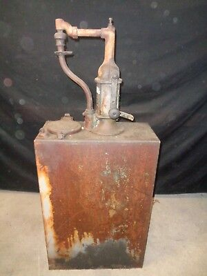 Vintage Oil Tank with Hand Pump