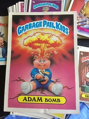 Garbage Pail Kids card lot. Over 200 cards and duplicates. Giant Adam Bomb card.