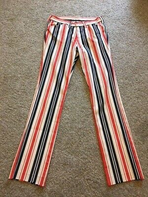 Vintage 1970's Red White & Blue Striped Women's Pants by Sears USA Made AWESOME!