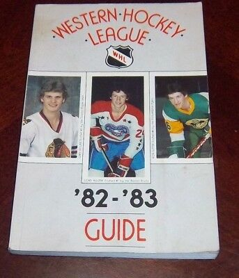 WHL Official Guide 1982-83 cover Gord kluzak /Gary Nyland / Ron Sutter