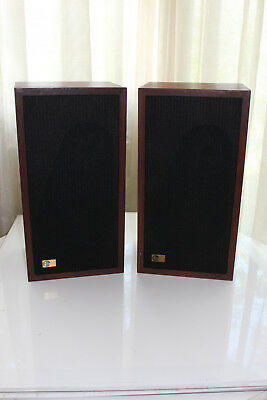 Vintage pair of EPI model M100 Standard first generation walnut veneer speakers
