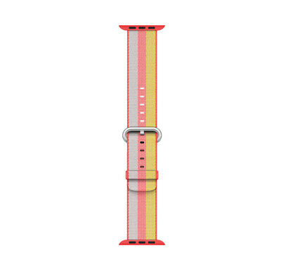 Genuine Apple Woven Nylon Band for Apple Watch 38mm (Red Stripe) - VG - No Box