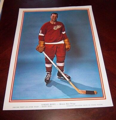 Gordie Howe First All-Star Team Detroit Red Wings right wing 1965-66