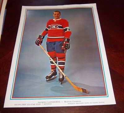 Jacques Laperriere  First All-Star Team Montreal Canadians Defence  1965-66