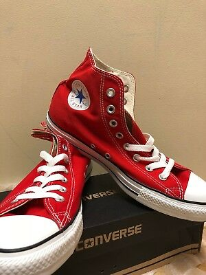 Converse For Men All Star Hi Top Red White Canvas Chuck Taylor NEW WITH BOX