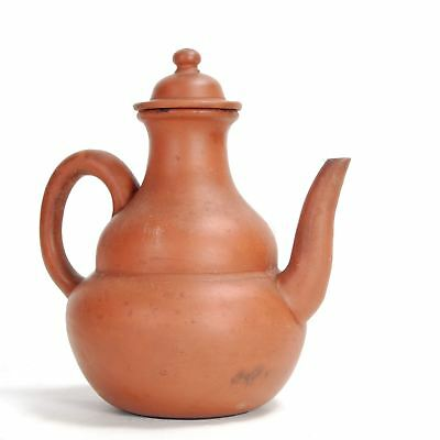 Vintage Chinese Yixing clay teapot. Some soiling. 6 inches 1960 or earlier.