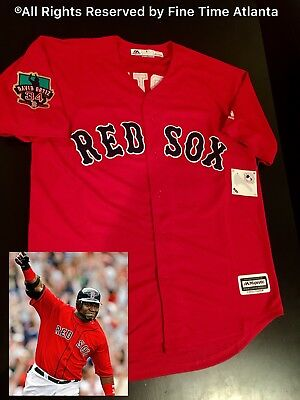 3b400b91d NEW David Ortiz Boston Red Sox Men's Red Alternate Final Season Patch Jersey