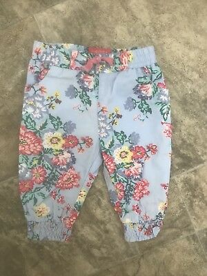 Girls Joules Floral Trousers Age 3-6 Months