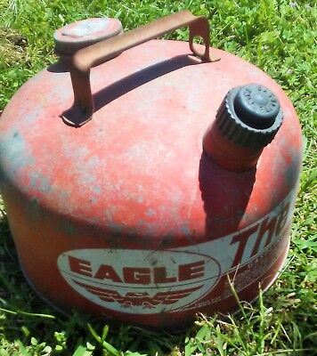 Vintage Eagle The Gasser Model M-2 1/2 Galvanized 26-Guage Steel 2.5 Gal Gas Can