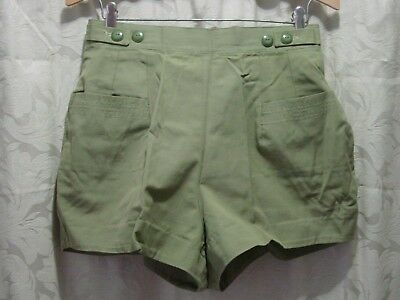 Vintage 1960's-70's Pair of Margo Casual High Waisted Short Shorts Hot Pants