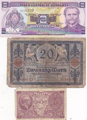 7 1919-2013 Circulated Notes From All Over