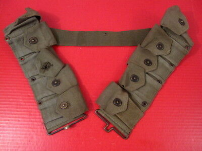 post-WWII US Army Dismounted M1923 Ammunition Cartridge Belt  M1 Garand Nice #3