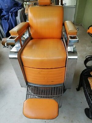 vintage koken barber chair from the 1950s-early 60s ..............#1....
