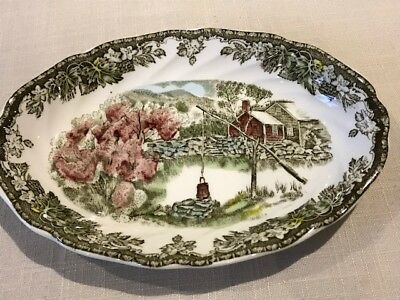 """Brand: johnson brothers  Made in England  'Friendly Village"""" gravy boats"""