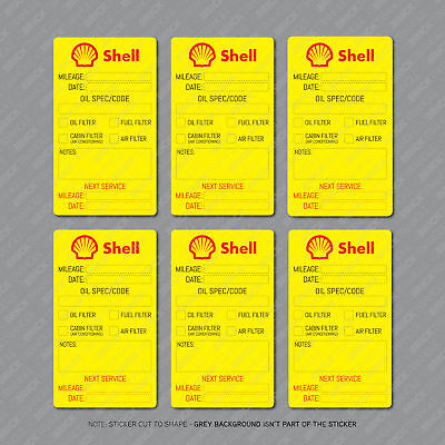 12 x  Shell Oil Change Service Reminder Stickers for Cars Trucks Vans - SKU2882