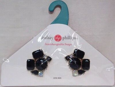 Lindsay Phillips Snaps Shoe Jewelry Jules Goldtone Black And Iridescent Stones