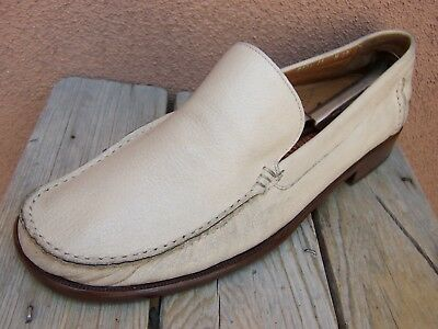 COLE HAAN Mens Casual Dress Shoes Light Tan Classic Italian Resort Loafer Sz 11M