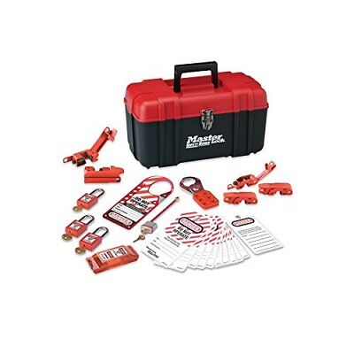 Master Lock Lockout Tagout Kit, Electrical Lockout Kit with Thermoplastic Safety