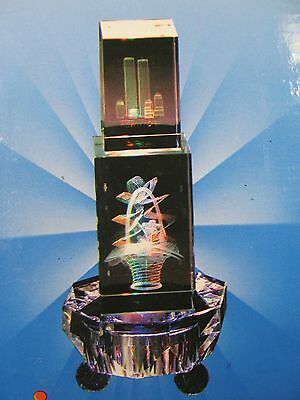 """3"""" 7 Led  Multi-Colored Light Stand for Crystal Display Base /AC/DC"""