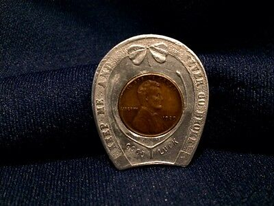 1929 Pierre Picard Good Luck Wheat Penny Token for Suit Overcoat Mens Clothe
