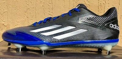 0dfdedb200fc Mens Adidas Adizero Afterburner 3 Metal Baseball Cleats Size 9 or Black Blue