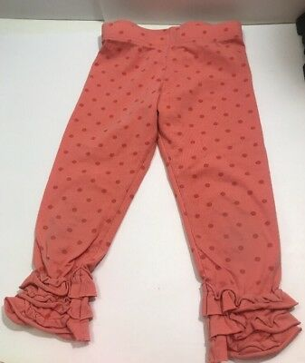 Matilda Jane Girls Toddler Ruffle Leggings Pants Stretch Sz 4