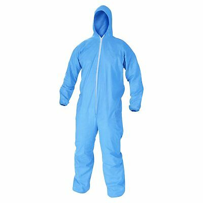 KleenGuard 45024 A60 Elastic-Cuff, Ankles & Back Hooded Coveralls, Blue, X-Large