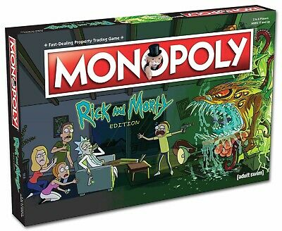 NEW! Monopoly - Rick and Morty Edition