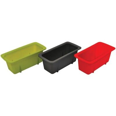 Starfrit(R) 080335-006-0000 Silicone Mini Loaf Pans, Set of 3