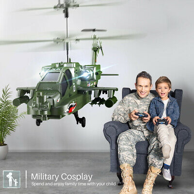 RC Attack Helicopter SYMA S109G 3 Channel Infrared Control Army Military