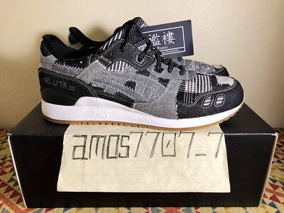 35769bef4a7a Asics Gel Lyte III 3 Ranru Patchwork Peacoat Denim White Gum HN7T0 Men Size  11