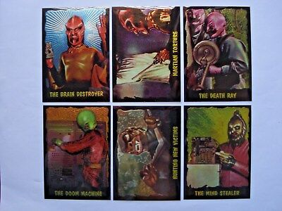 1997 Duocards The Outer Limits Complete 6 Card *chromium* Chase Set **rare**