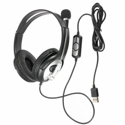Gift USB Gaming Headset MIC Stereo Headphones Earphone for PC Laptop Xbox One H2