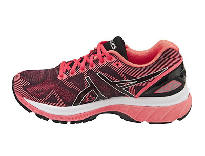 a7bb4790910f ASICS Women s Gel-Nimbus 19 Running Shoe BLUE FLASH CORAL   BLACK SILVER