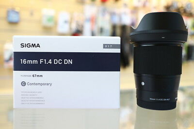 Sigma 16mm f/1.4 DC DN Contemporary Lens for Sony E XK