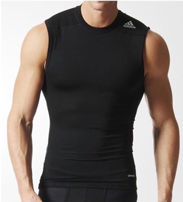 4f6e68864f5b7 New Adidas Men s Climalite Techfit Base Sleeveless Shirt Color Black Size  Med Lg