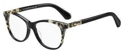 NEW Kate Spade KS Johnna Eyeglasses 0WR7 Black Havana 100% AUTHENTIC