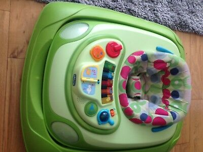 Chicco Baby Walker Car Green With Lights And Sounds Good Condition