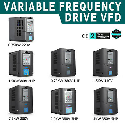 0.75KW~7.5KW Single To 3 Phase Variable Frequency Drive Inverter VSD VFD AU