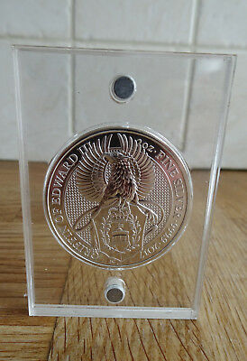 2016 £5 999 Silver Bullion Queens Beast Griffon 2 Oz With Magnetic Perspex Case