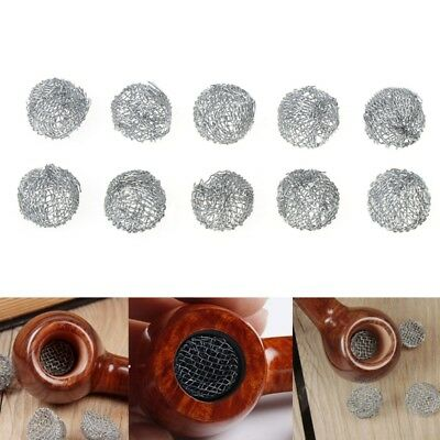10Pcs Tobacco Smoking Pipe Metal Filter Screen Steel Mesh Rimmed Dome Bong 15mm
