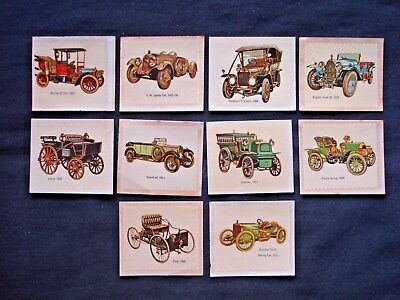 1971 Sanitarium Car Transfers Lot Of 10 (Red Backs)