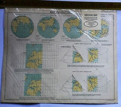 Map Projections, 1981, By JGB Bartholomew,  Macmillan & Co, London. 1891