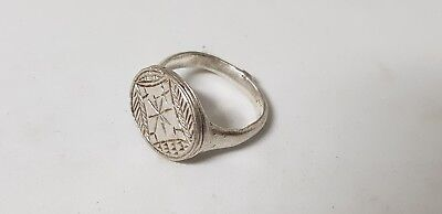 Medieval Silver Ring 7th-9th century AD