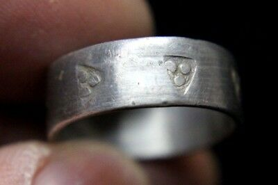 Viking Viking Silver Ring with Triangular Stamps 900-1100 AD