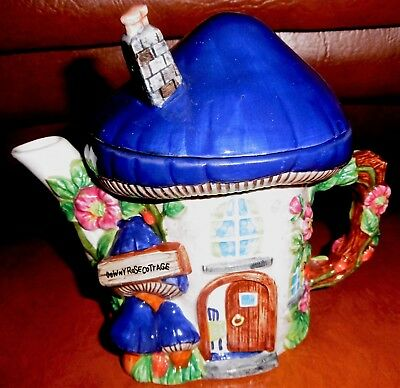 "Teapot ""Downey Rose Cottage""    By  "" Annie Rowe"""